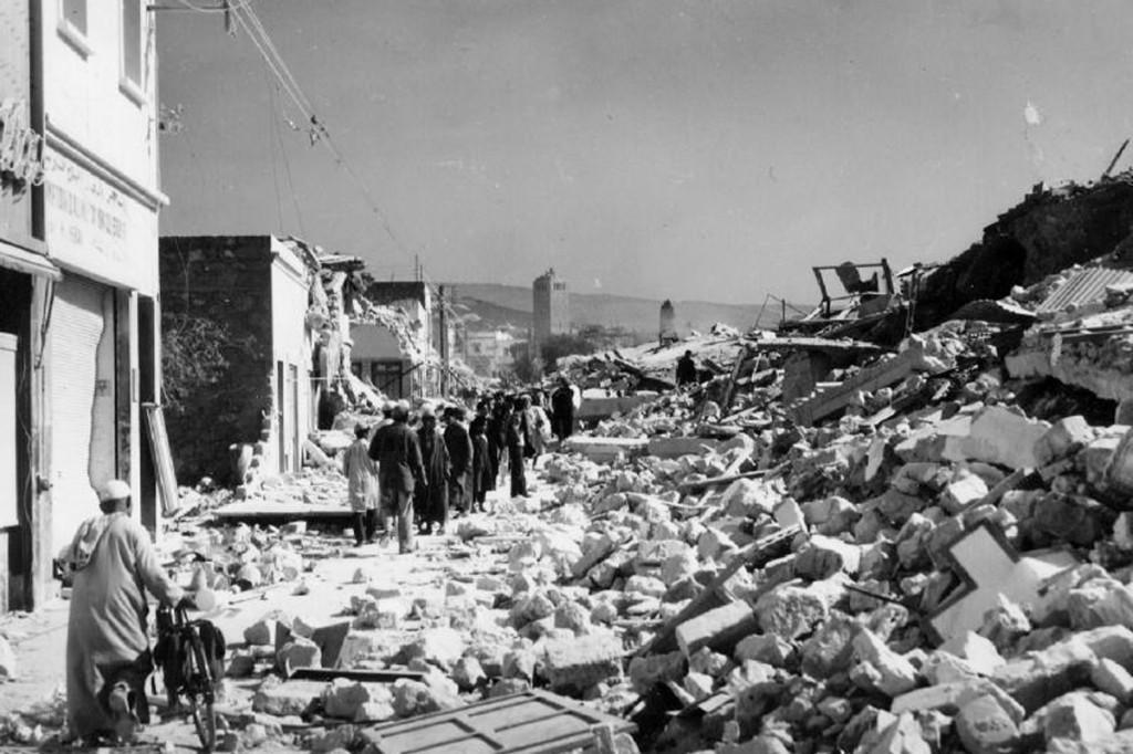 Agadir destruido por el terremoto de 1960